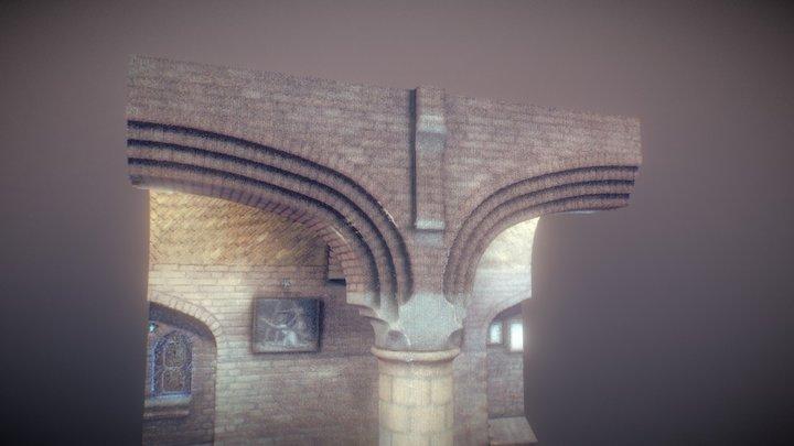 Point Cloud Sint-Bernadettekerk Spoordonk 3D Model
