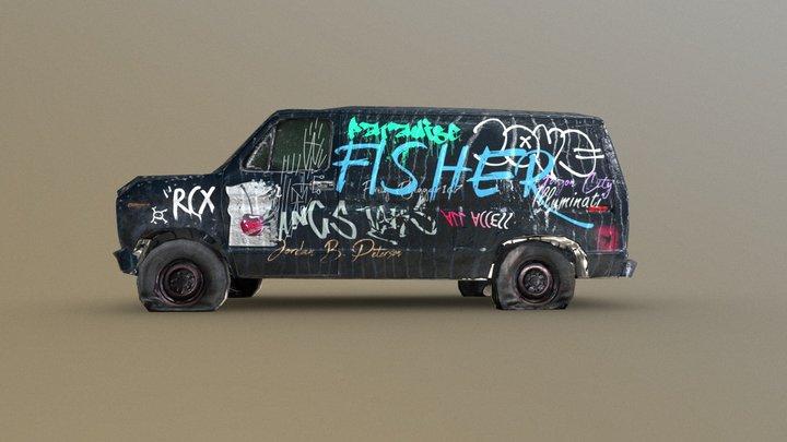 Graffiti Challenge Van 3D Model