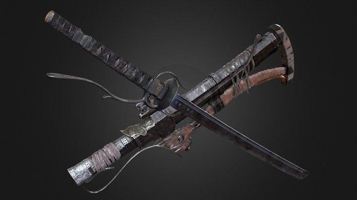 "Roaring Thunder-""轟雷"" Sekiro Trick Weapon 3D Model"