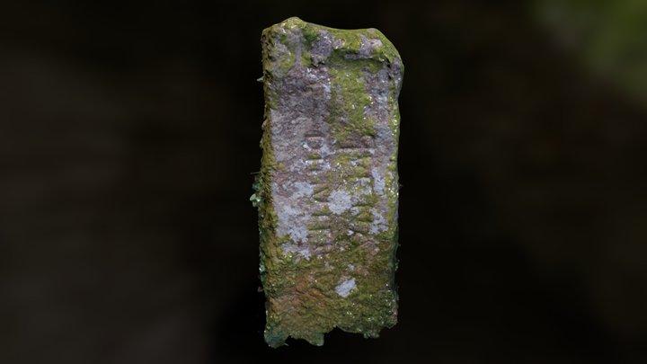 Bleu Bridge inscribed stone, Gulval, Cornwall 3D Model