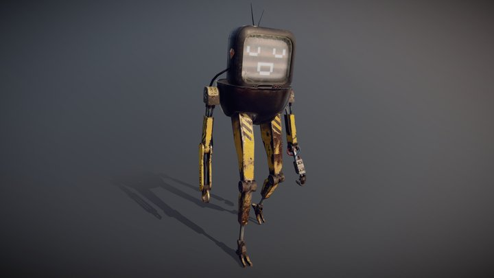 J1M-B0 - Jimmy Jones' Delivery Bot 3D Model