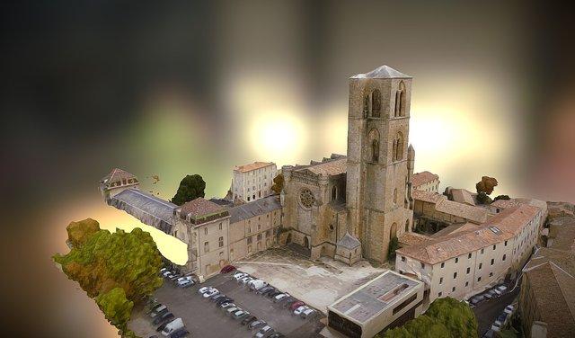 CATHEDRALE DE LODEVE 3D Model