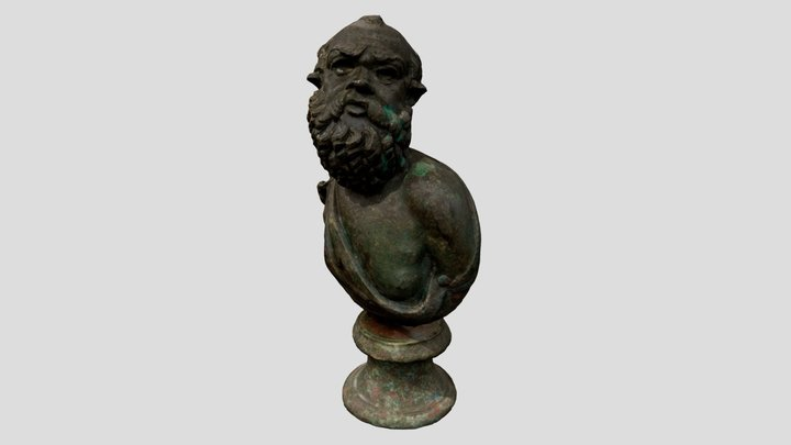 ANFortnum.B.83 - Bronze Bust of Silenus 3D Model