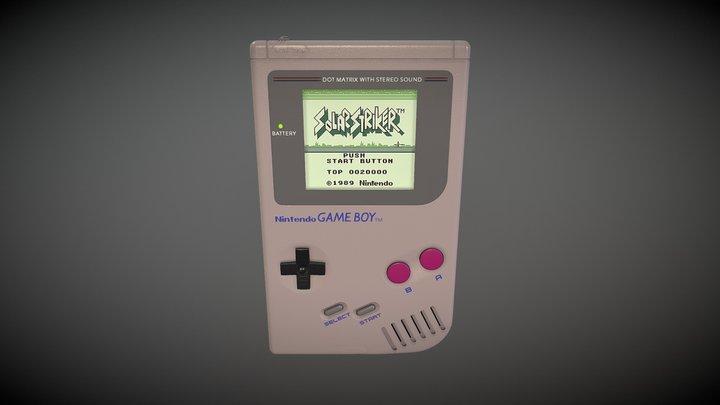 Gameboy Painter 3D Model