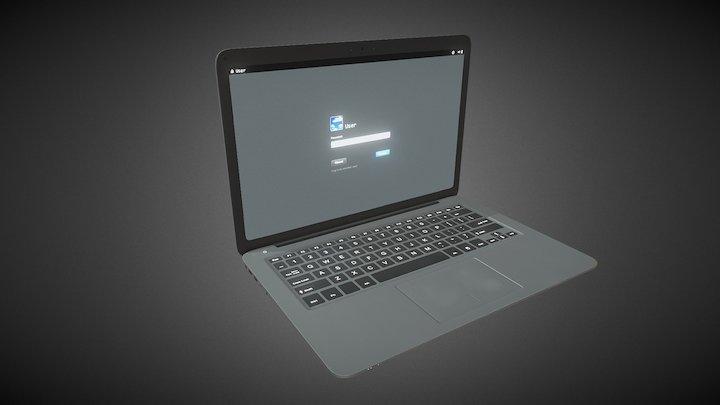 Laptop Low poly 3D Model