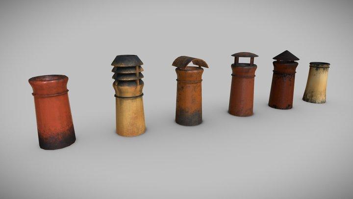 Chimney Pots 3D Model