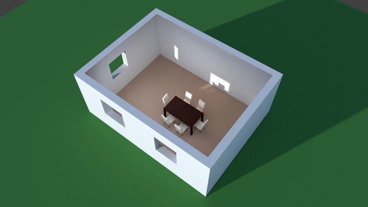 test house 001 3D Model