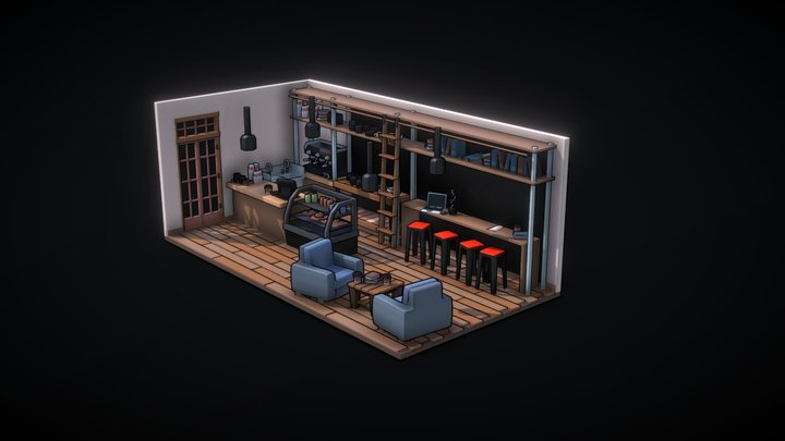 Cozy Coffee Shop 3D Model