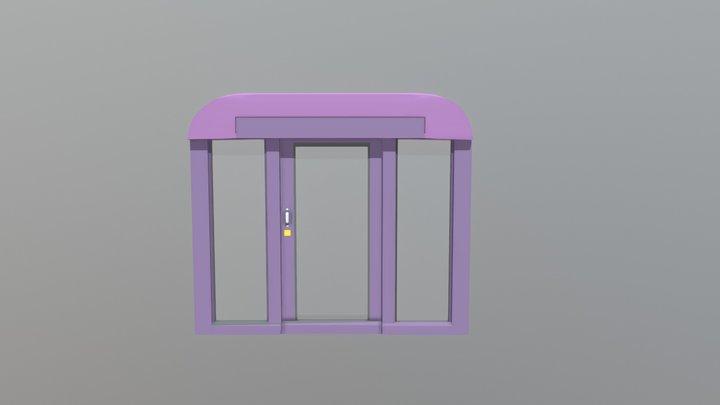 SNCF DOOR ANIMATION 3D Model