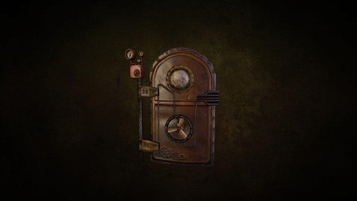 Lowpoly Steampunk Door 3D Model