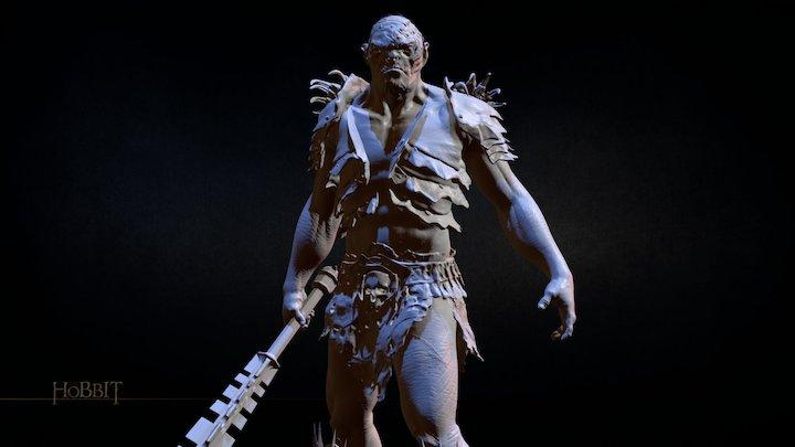 The Hobbit Figurine_BOLG 3D Model