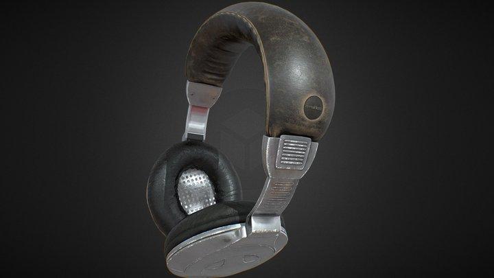 Plastic Headphones 3D Model