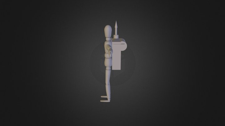 Grappling Backpack Xport 3D Model