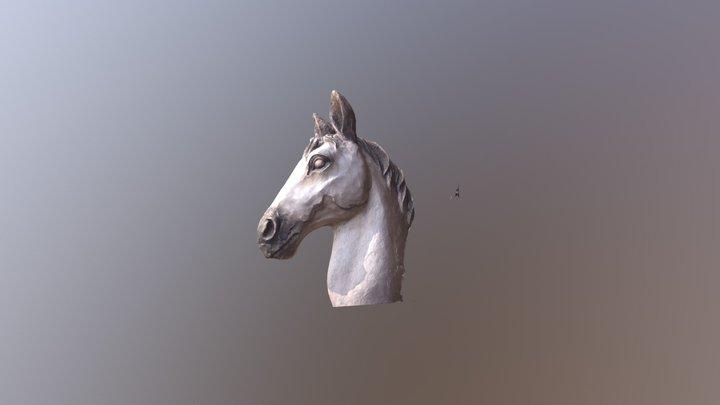 Horse bust wood 3D Model