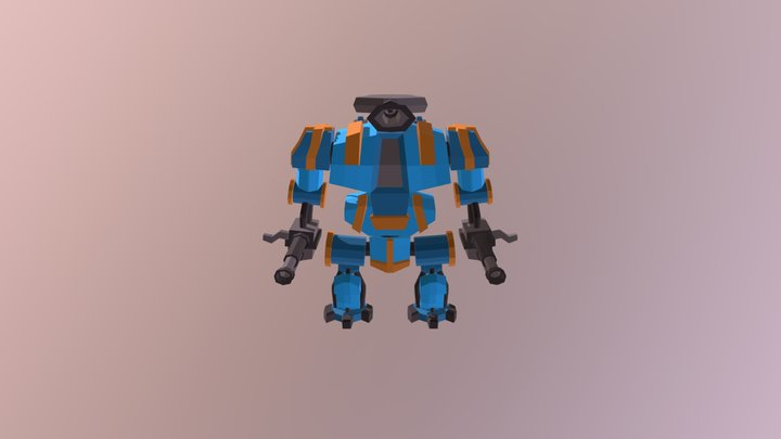 Dreadnought Canon LowPoly 3D Model