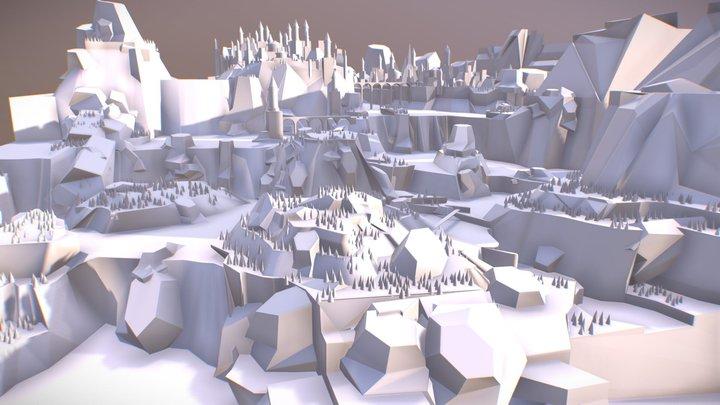 City Falls 3D Model