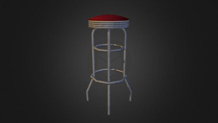 Prop Retro Cafe Chair 3D Model