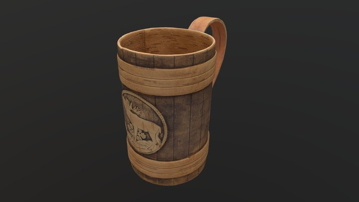 Wooden Cup — Free 3D Model