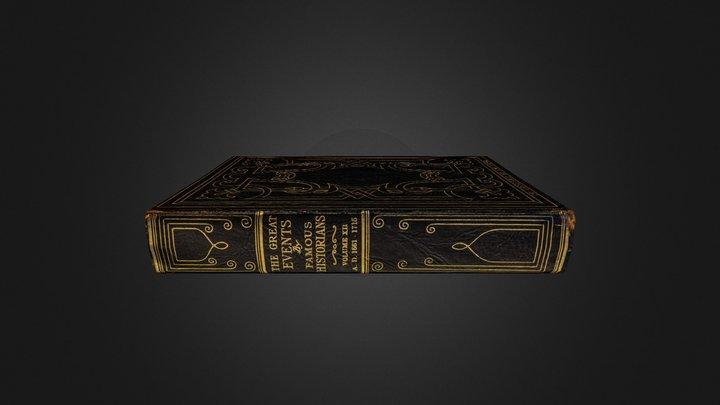 Livre Noir 3D Model