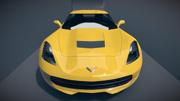 Corvette Stingray C7 3D Model
