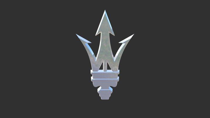 MASERATI EMBLEM 3D Model
