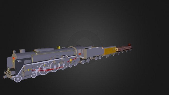train de marchandise 3D Model