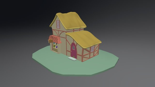 Ponyville Bookstore 3D Model