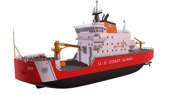 US Coast Guard Icebreaker 3D Model