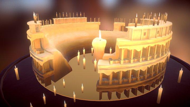 Candle Coliseum 3D Model