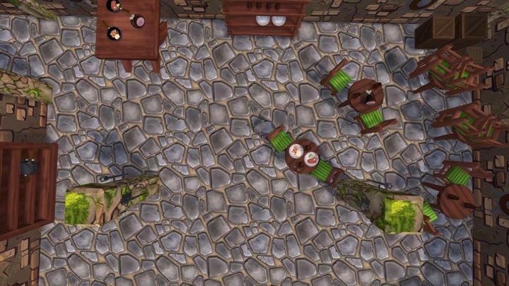 Dungeon, Underground, Tavern. 3D Model