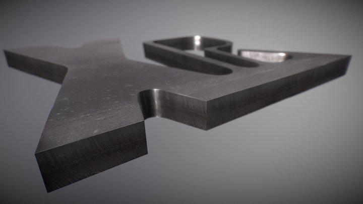 Przykład cięcia stali nierdzewnej 3D Model