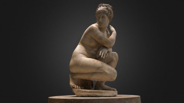 Aphrodite crouching at her bath (better) 3D Model