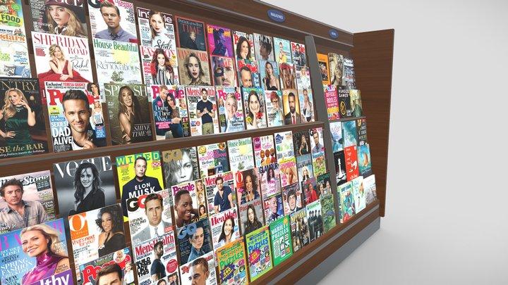 Books & Magazines Section 3D Model