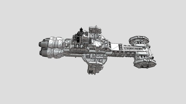 Gladius-class Frigate 3D Model