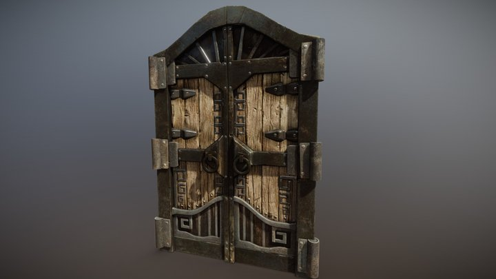 Dwarven Gate Entrance 3D Model