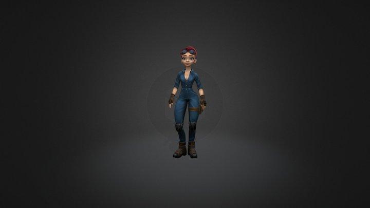 Girl mechanic. 3D Model