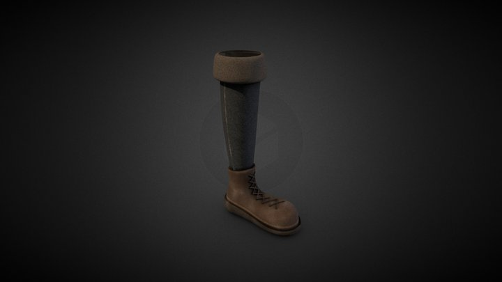 High quality High Top Boots 3D Model
