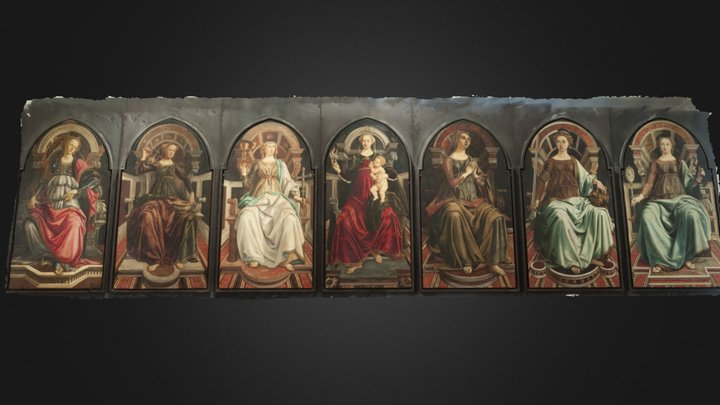 The Seven Virtues Polyptych--Test 1 3D Model