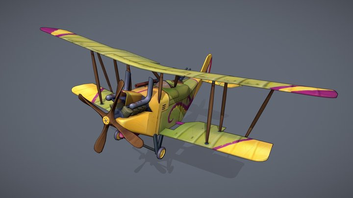 """Flying Circus: """"RE.8 - Harry Tate"""" 3D Model"""