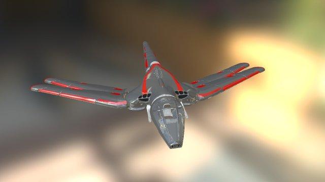Damselfly Interceptor 3D Model