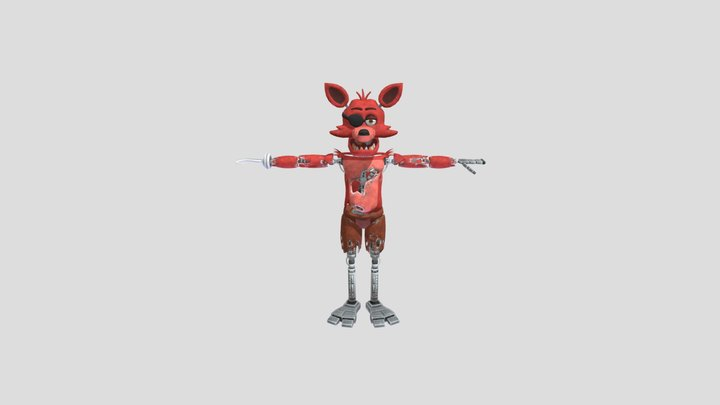 Foxy Special Delivery 3D Model