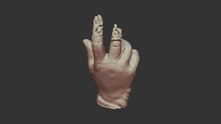Hand from the Phillips Brooks Monument 3D Model