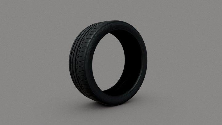 Bridgestone Potenza R17 3D Model