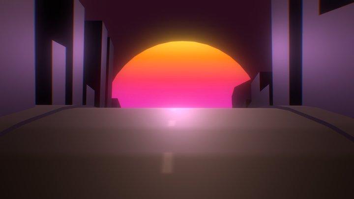 LOOPING SUNSET Animation 3D Model