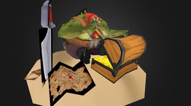 Pirate Croc 3D Model