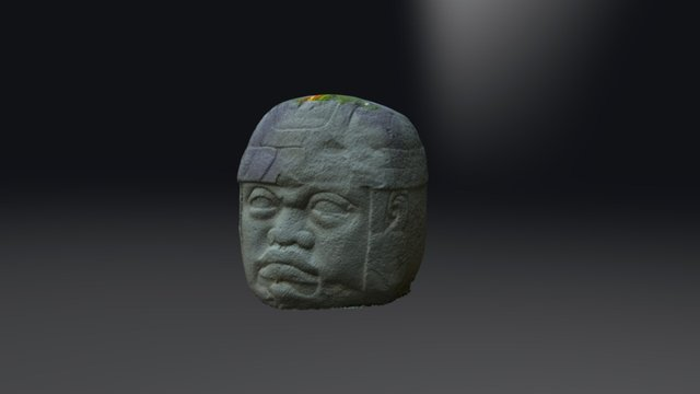 CABEZA OLMECA 3D Model
