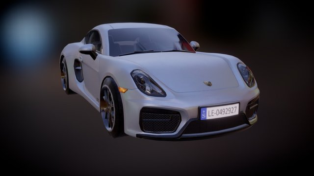 Porsche Cayman gts 3D Model