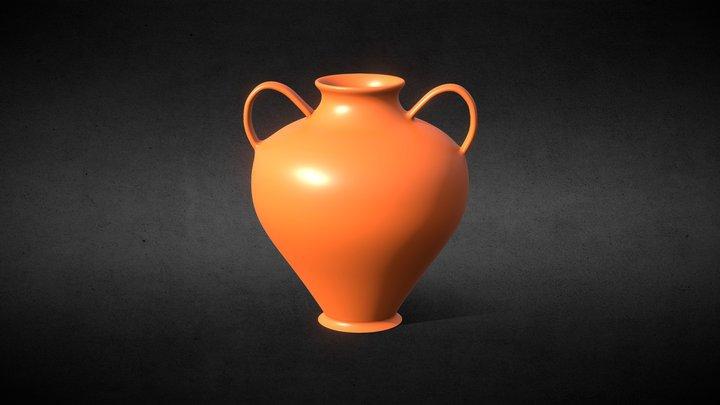Ancient Greek Vessel Pottery High Poly 3D Model