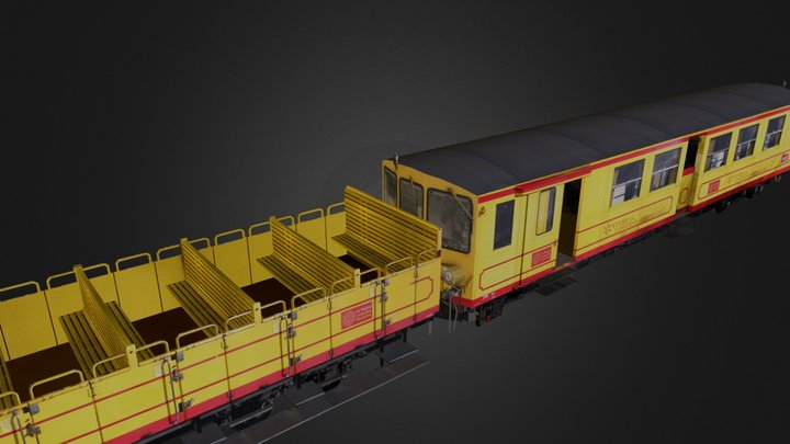 Tren groc by Eugeni Llopart 3D Model