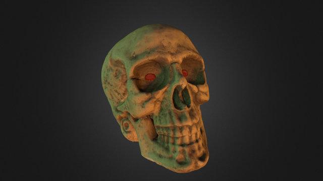 #3DST20 - Halloween Skull 3D Model